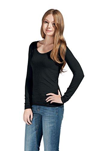 T-shirt Slim Fit ML femme Noir