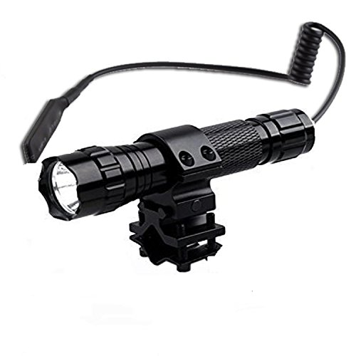 LMJ-CNWF-501B tactical flashlight cree xm-l t6 led 1000 lm 3-12V 1 Mode Light and tactical switch with 45°Side Picatinny Mount Kit