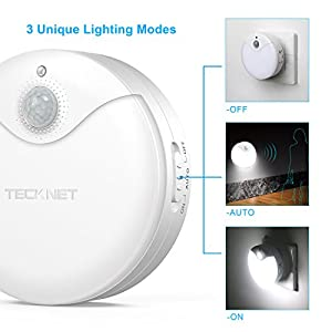 LED-Night-Light-TeckNet-3-Pack-Plug-and-Play-Automatic-Wall-Lights-With-3-Lighting-Modes-Dual-Motion-Light-Sensor-Warm-White-Light-Energy-Saving-Design-For-Nurseries-Childrens-Bedroom-Living-room