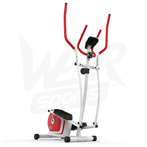 We R Sports Elliptisch ?berqueren Trainer & ?bung Fahrrad 2-in-1 Zuhause Cardio- Training (Red) - 9