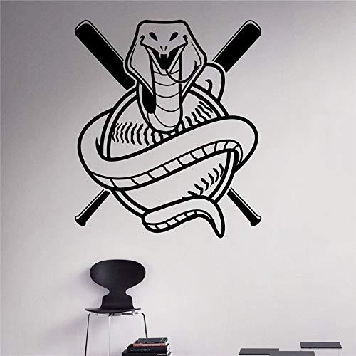 Geiqianjiumai Wandaufkleber Baseball Spiel Logo wandtattoos Home Indoor abnehmbare Design wandbilder 104,4x111,6 cm