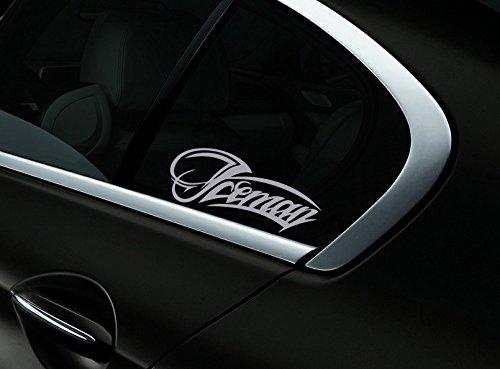 Iceman Kimi Raikkonen F1 Auto- Fenster-Aufkleber- Abziehbild- Styling, Silber - Fenster-abziehbild Getönte