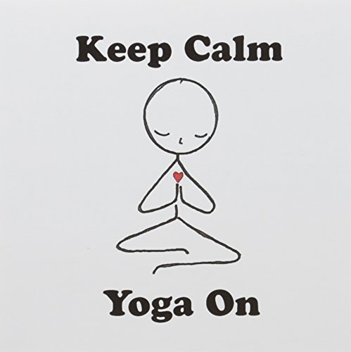 3drose Grußkarten, Keep Calm And Yoga auf. Meditation Strichmännchen. Yoga. Lotus Position., Set 6(GC _ 123070_ 1)