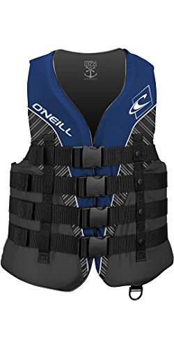 O';Neill Superlite 50N Ce Watersports Wasserski Jetski Wakeboarding Safety Impact Weste - Top Pacific/Smoke Black - Leichtgewicht -