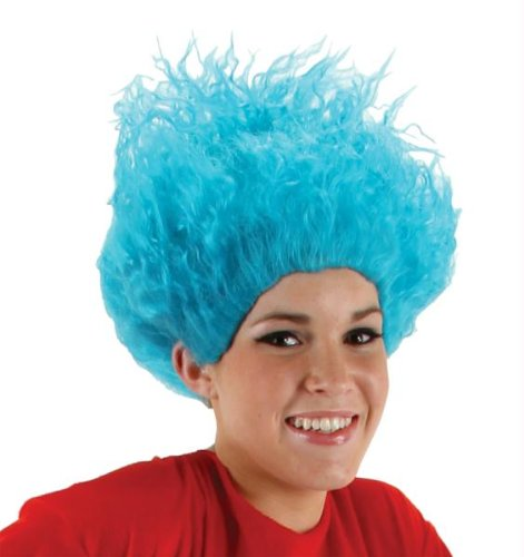 1 Kostüme Ding Und Up 2 Ding Make (Dr Seuss Thing 1 Ding 2 Perücke Halloween Kostüme Cosplay Wig Perücke Haar für Maskerade Make-up)