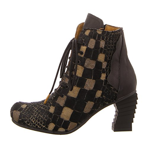 Papucei Camelie Black-yellow, Stivali donna, Nero (Black-Yellow), 39