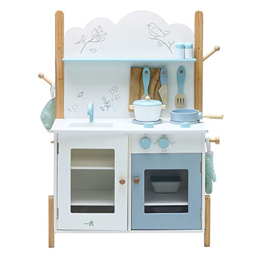 Labebe Kids Wooden Pretend Kitchen Playset