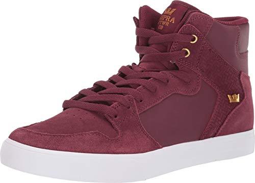 Supra Vaider, Zapatillas de Skateboard Unisex Adulto, Rojo Wine-White-M 697, 42 EU