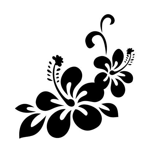 YSHtanj Auto Aufkleber Externe Dekoration Aufkleber Blume Blumen Auto Aufkleber Aufkleber Selbstklebende Karosserie Fensterdekoration - Schwarz -
