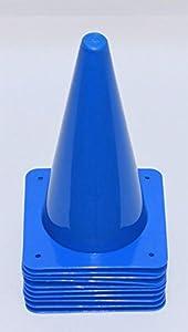 agility sport pour chiens - lot de 10 plots de délimitation 30 cm, bleu - 10x MK30b