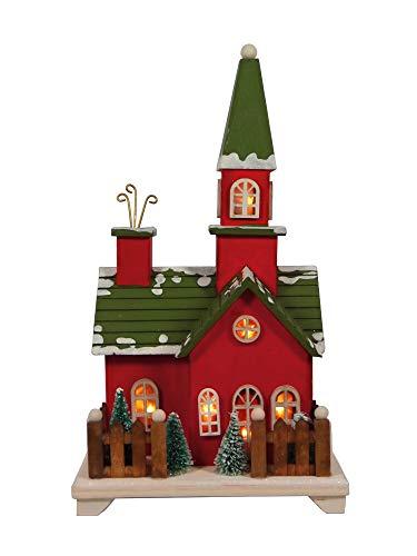 bleuchtet Winter Weihnachts Dorf Haus Leuchthaus Lichthaus ()