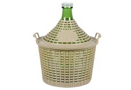 Glasballon mit Kunststoff - Korb Korbflasche 5 Liter
