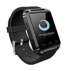 Brigmton BWATCH-BT2N-Smartwatch (1,44 Zoll, 3,66 cm, 32MB RAM, USB 3.0, Micro-USB), Schwarz