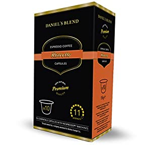 Order 100 Nespresso Machine Compatible Coffee Capsules (Alternative Pods)- DANIELS BLENDS from BALNES EUROPE SL