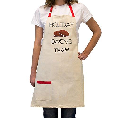 Maßgeschneiderte, verstellbar, Baumwolle Kochen Schürze mit Tasche–heat-resistant- Personalisierte BBQ/Kochen Küche Geschenke für Köche Holiday Baking Team (Urlaub Pyjamas Für Die Familie)