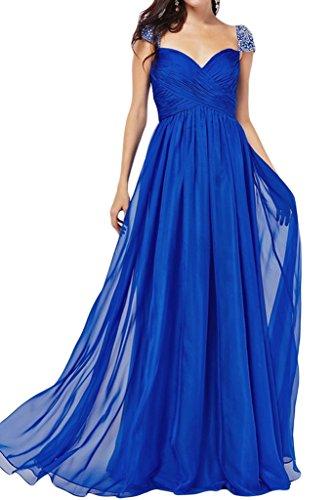 ivyd ressing robe a Robe de ligne aermel courte avec pierres Prom Party Soirée Robe bleu roi