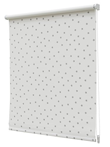 Estor Enrollable Opaco Regular N.105 60x190cm Blanco/Gris