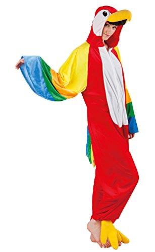 Karneval-Klamotten Papagei Kostüm Damen aus Plüsch Papagei-Overall Karneval -