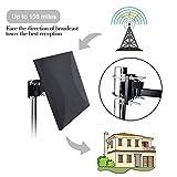 Antenne TNT extérieure puissante avec revêtement anti-UV, étanche et design compact