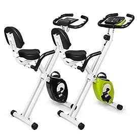 INTEY Cyclette Magnetica Fitness Bike Pieghevole, Resistenza Regolabile a 16 velocità, Cyclette da Allenamento con Impugnatura a Impulsi e Display LCD