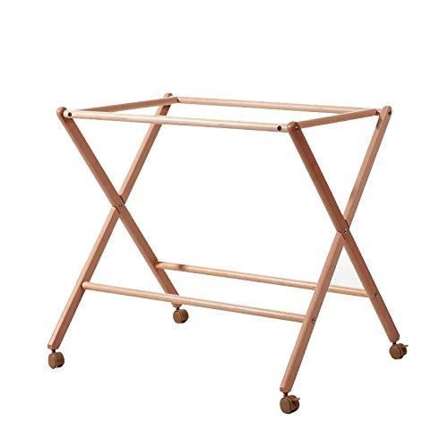 Estructura minicuna TIJERA color natural, madera maciza. BEBELOVERS, KOKETES, MOBIBE 730007-85