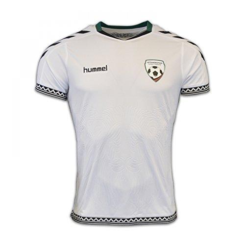 2016-2017 Afghanistan Womens Hummel Football Shirt (Weißes T-shirt Afghanistan)