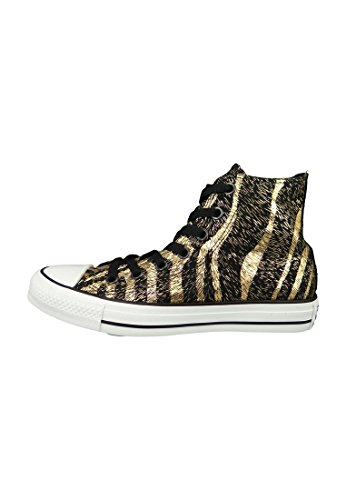 Converse Damen Chuck Taylor All Star Femme Animal Print Kurzschaft Stiefel noir - Black/Rich Gold