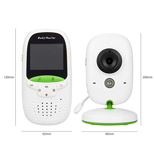 Zywtrade 2.4G Wireless Baby Video Monitor Mit Night Vision, Two-Way Talk Audio, Temperatursensor, Long Transmission Range 2.4 G Wireless Video Audio