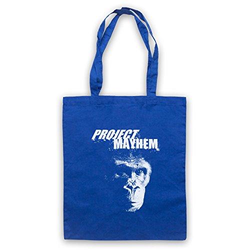 Inspiriert durch Fight Club Project Mayhem Inoffiziell Umhangetaschen Blau