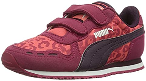 Puma Cabana Racer Animal V Kids, Unisex-Kinder Sneakers, Rot (cerise-potent purple-dubarry 02), 34 EU (1.5 Kinder
