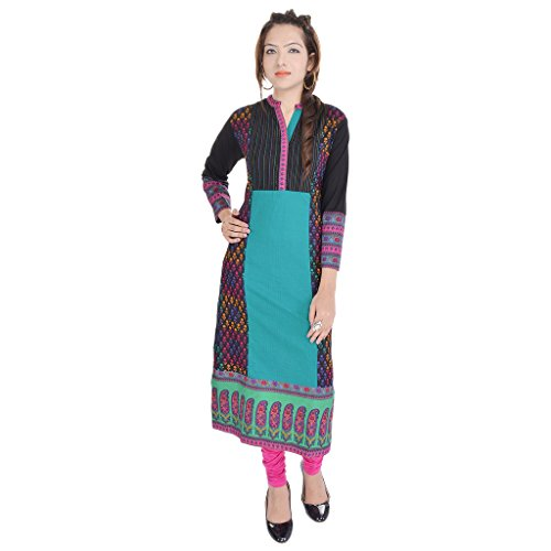 Ab Marketing Women Cotton Kurti In Green-Xl