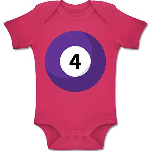 Shirtracer Karneval und Fasching Baby - Billardkugel 4 Kostüm - 3-6 Monate - Fuchsia - BZ10 - Baby Body Kurzarm Jungen - Vier Gruppe Kostüm