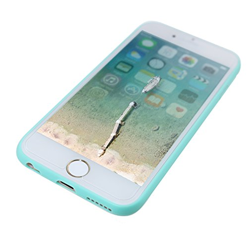 iPhone 6 Cas, allbuymall Ultra Fin avec Protection [Candy pur] doux Pure Color Premium semi-transparent non encombrement Coque en TPU pour Apple iPhone 6 6S (11,9 cm) vert menthe