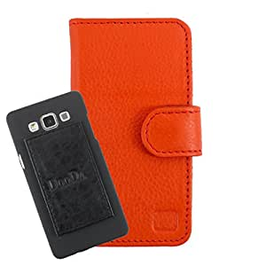 DooDa Genuine Leather Wallet Flip Case Cover With Card & ID Slots For Acer Liquid E700 - Back Cover Not Included Peel And Paste