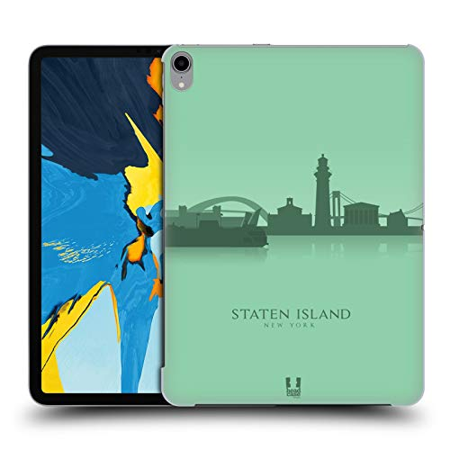 Head Case Designs Staten Island Landmarken Silhouettes 2 - Us Harte Rueckseiten Huelle kompatibel mit iPad Pro 11 (2018)