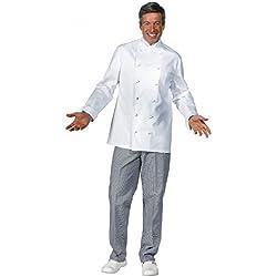 Leiber - Chaquetilla de cocinero, color blanco blanco Talla:54
