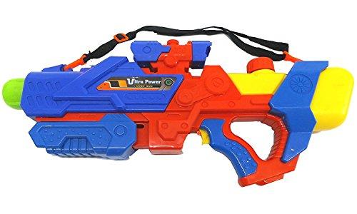 Brigamo 728512 - ⛲ Große Wasserpistole Mega Blaster mit Zielfernrohr und Tragegurt - extra großer Tank (Kostüme Halloween Wasser Flasche Für)