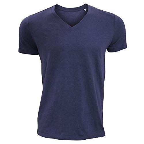 Stars By Stedman Luke Herren T-Shirt, V-Ausschnitt, Kurzarm Grau Meliert