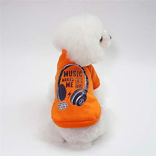 QINCH Home Pet Kleidung Katze Hund Pullover Teddybär Kostüm Haustier Kleidung Herbst und Winter läuft Menge Hemdhemd Hundekleidung (Color : Orange, Size : M) (Für Teddybär Kostüm Hund)