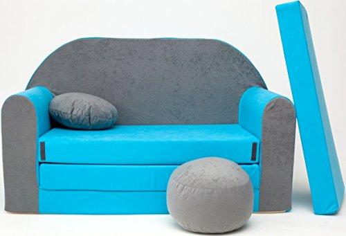 Kindersofa Spielsofa Minicouch aus Schaum Kindersessel Kissen Matratze Farbwahl (20)