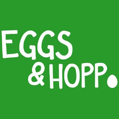 ::: EGGS UND HOPP ::: Girls T-Shirt Ostern Grün mit weißem Aufdruck