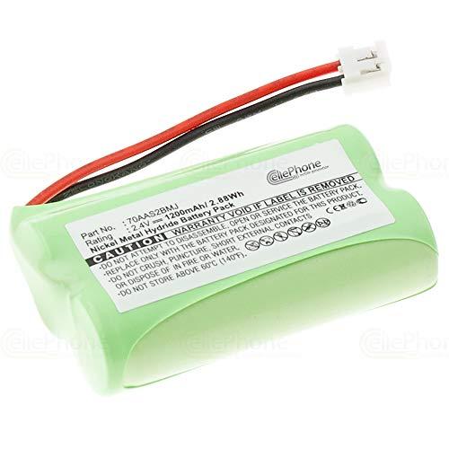 cellePhone Batterie Ni-MH Compatible avec Binatone MD500 / Big Button Combi/BT Clarity 600 (Remplacement pour 70AAS2BMJ)