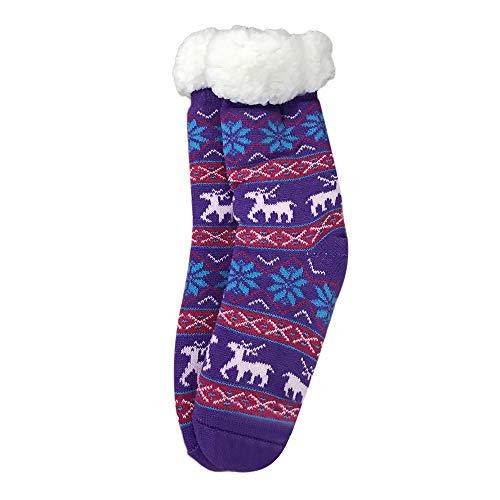 MAYOGO Damen Herbst Winter Pure cotton socks Plus Samt Verdickung Rutschfest Bodensocken Teppichsocken Midrohr socken 42cm