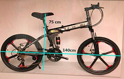 """20 \"""" Acciaio Al Carbonio Pieghevole Mountain Bike 21 Velocità TX30 Marce Croce Battaglia Comand G6 Doppio Freno a Disco 20 Pollici"""