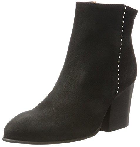 SELECTED FEMME Damen Sfamber Heel Studs Nubuck Boot Stiefel Schwarz (Black)