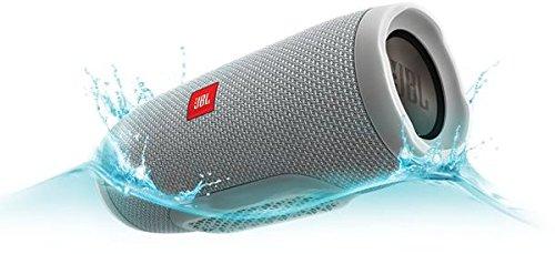 JBL Charge 3 Tragbarer Bluetooth-Lautsprecher (Wasserdicht, mit 6000 mAh Power Bank und Freisprechfunktion) Grau