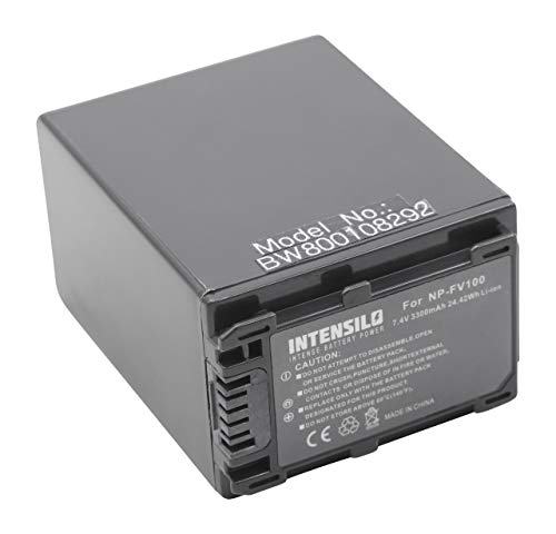 INTENSILO Li Ion batteria 3300mAh per telecamera videocamera camcorder Sony PXW X70 sostituisce NP FV100 NP FV60 NP FV30