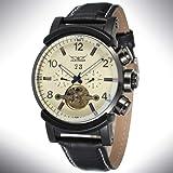 FENKOO Schöne mechanische Uhren Jargar / 159 Herrenuhr mit großem Zifferblatt Tourbillon Automatic Mechanical Watch (Color : 1)
