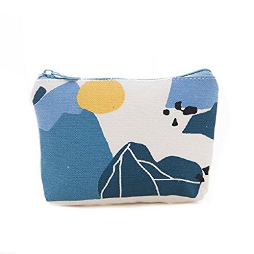 LUFA Borse portatili della borsa portatile della borsa della moneta della borsa della moneta della tela di canapa di Harajuku # 1