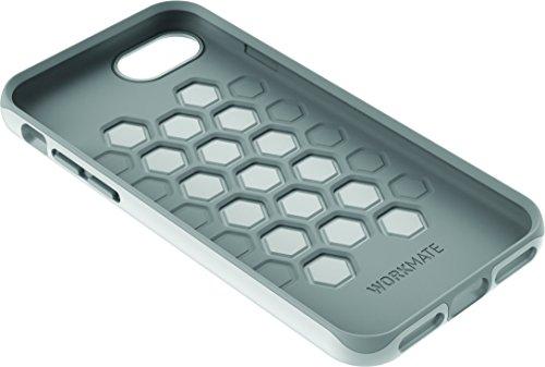 Cygnett CY1967 WorkMate Pro Schutzhülle aus Kunststoff und Silikon für Apple iPhone 7 stoßfest, schlankes Design grau/schwarz weiß/grau